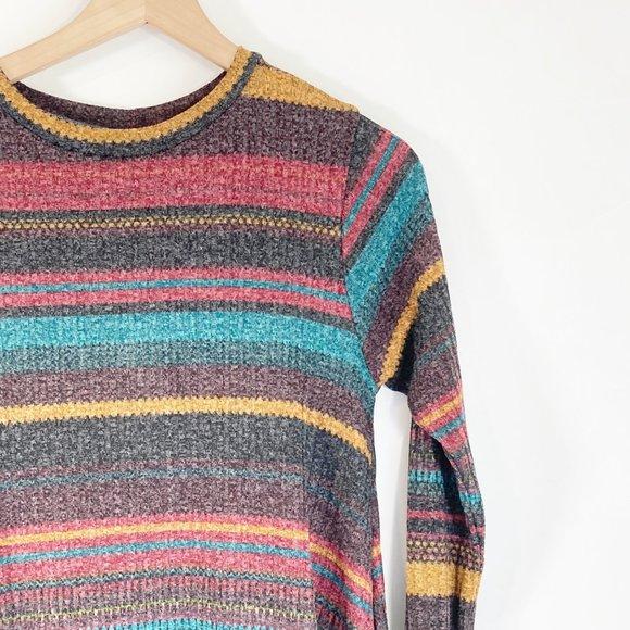 Elan Dresses & Skirts - Elan Horizontal Striped Swing Sweater Dress M